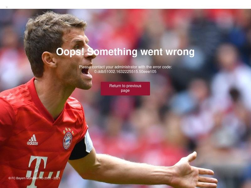 Screenshot von https://fcbayern.com/de